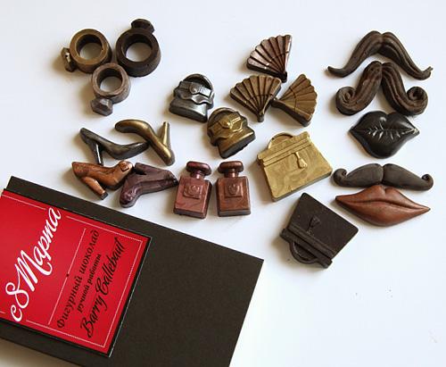 Фигурные шоколадные сладости к празднику